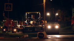 Repair of road pavement in the city Stock Footage