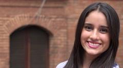 People Smiling Happy Teen Girl Stock Footage