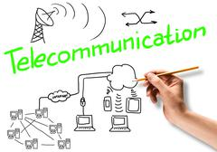 Telecommunication connection Stock Photos