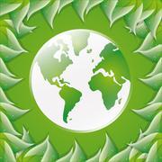 Eco friendly design - stock illustration
