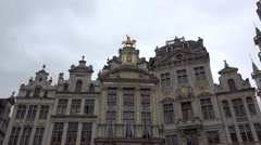 Belgium capital city, Brussels architecture tilting view Stock Footage