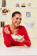 dient salad healthy food eating weight loss food - stock photo