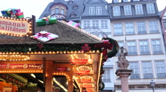 Christmas Market FrankFurt Germany Stock Footage