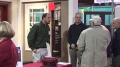 Home Show - Crowd C - Salesman talking Stock Footage