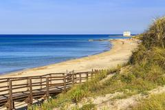 The Regional Natural Park Dune Costiere ,Torre Canne. (Apulia)-ITALY- - stock photo