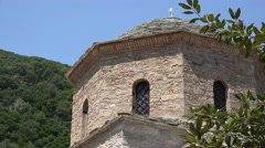 Stone church tower Stock Footage