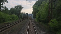 Railway track motion - stock footage