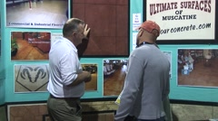 Home Show - Crowd D - Two Men Talking Stock Footage