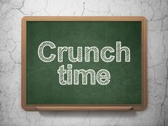 Business concept: Crunch Time on chalkboard background - stock illustration