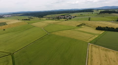 Aerial view of cornfields Stock Footage