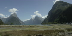 Iconic Mitre Peak in New Zealand Stock Footage