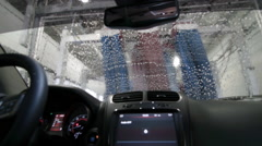 Interior POV Car Wash 2 - stock footage