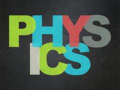 Education concept: Physics on School board background Stock Illustration