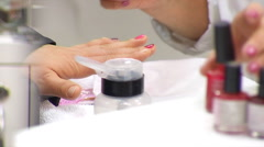The Client Considers Her New Manicure Stock Footage
