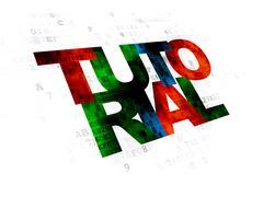 Learning concept: Tutorial on Digital background Stock Illustration