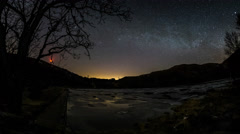 Bjoergvin | Milky Way over Tarlebolake Stock Footage