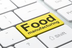 Industry concept: Food Manufacturing on computer keyboard background - stock illustration