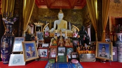 Buddha in Wat Upakhut temple. Stock Footage