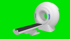 On a green background for the tomography unit appears. Stock Footage