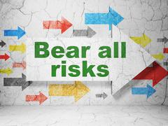 Insurance concept: arrow with Bear All Risks on grunge wall background Stock Illustration