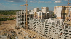 Construction and development of the city - stock footage