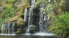 Beautiful Waterfall in the Woods Stock Footage