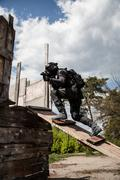 Spec ops police officer SWAT Stock Photos