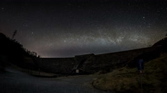 Bjoergvin | Milky Way over Tarlebodam Stock Footage