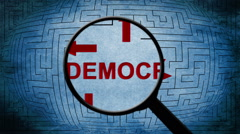 Searching for democracy - stock footage