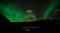 Bjoergvin | Aurora over Vidden Stock Footage