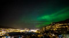 Bjoergvin | Aurora over Bergen - II Stock Footage