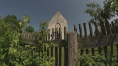 Church garden in germany, vorpommern Stock Footage