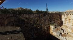 Marble stone quarry, pan shot 4k Stock Footage