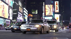 Traffic in Times Square of New York City 4k Stock Footage