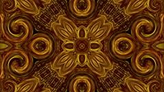Golden mandala animated kaleidoscope Stock Footage