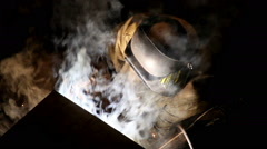 Manual welding is carried out by the welder Stock Footage