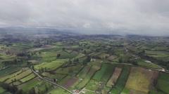 Aerial view of rural landscape Stock Footage