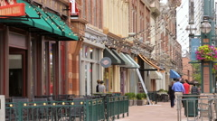 Historical Larimer Square in the Summer. Stock Footage