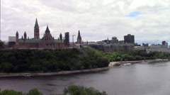 Ottawa city scape - stock footage