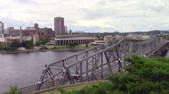 Alexandra Bridge and Museum of History Stock Footage