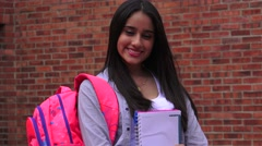 Pretty Female Teenage High School Student Stock Footage