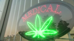 Medical marijuana sign Stock Footage
