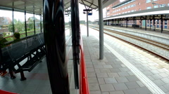 Amsterdam central station by train Stock Footage