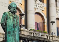 Statue of Henrik Ibsen Stock Photos