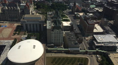 4K UltraHD An aerial view of Albany, New York Stock Footage