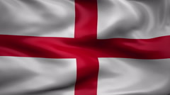 Flag of England Stock Footage