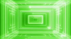 abstract line motion music background LOOP Green - stock footage