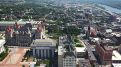 4K UltraHD An aerial timelapse of Albany, New York Stock Footage