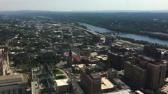 4K UltraHD An aerial view over Albany, New York Stock Footage