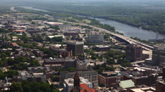4K UltraHD An aerial timelapse over Albany, New York Stock Footage